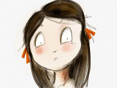 Huh? ipad sketch illustration girl