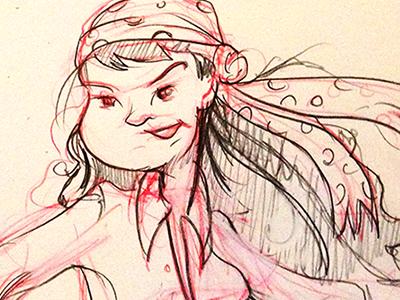 Pirate Grrrrllllll.... sketch pirate girl character design