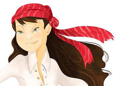 Pirategrrrl Render Closeup Sm photoshop pirate girl character design