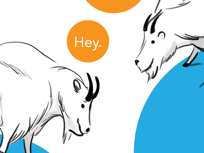 Chatty Goats goat illustration
