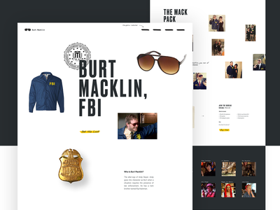 Burt Macklin, FBI mocktober typography ux parallax layout hero grid ui design whitespace web web design
