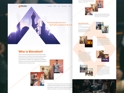 Just for fun - Full web design psd mockup elevation church hero ui ux design photoshop