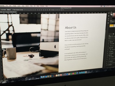 About Us about photoshop psd mockup clean simple web design design grid minimal