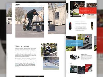 P-Rod Concept - Full web design mockup p-rod skateboard ui ux design web dribbble nike shop