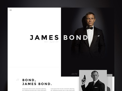007 Preview 007 bond photoshop mockup ui ux web design single page web psd