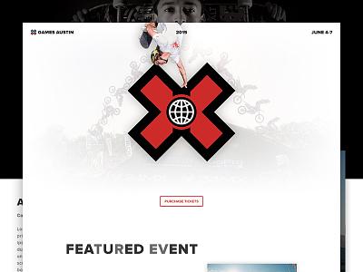 X Games Austin x games skateboard design single page web design ui concept psd web