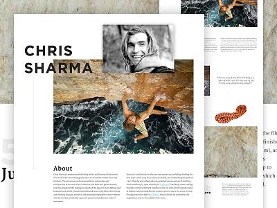 Chris Sharma Concept layout typography psd web design parallax photoshop web design magazine layout climb