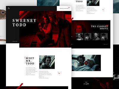 The Demon Barber of Fleet Street clean web design serif parallax blood grid ui mocktober layout web design