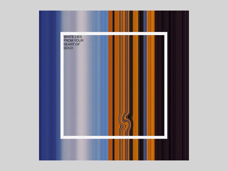 white lies retro colors geometric vintage square album art helvetica typography abstract