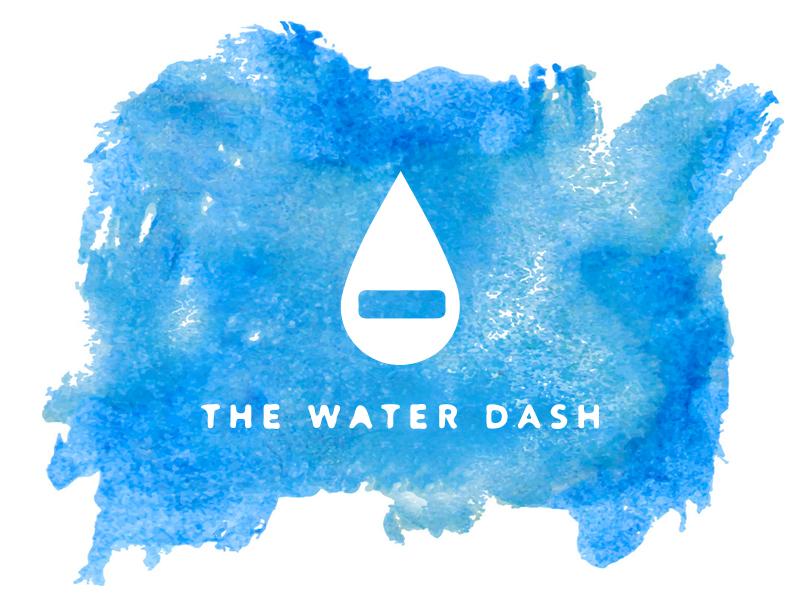 WATER DASH blue logo blue logo design iconography icon water dash water corporate identity identity watercolor watermark logotype logo