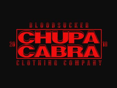 CHUPACABRA TYPE wordmark typography logo