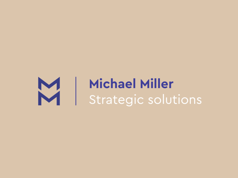 Michael Miller retro colors vintage colors vintage mm business card lockup logotype icon corporate identity identity