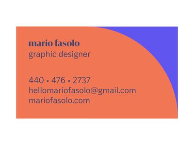 mario fasolo business card