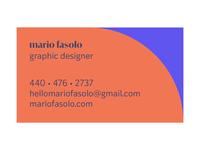 mario fasolo business card geometric business typekit vintage typography vintage retro bizcard business card