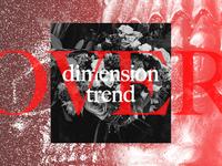 dimension trend typography caslon anti design vintage letterpress texture