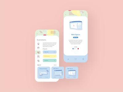Guidelines App ui  ux biznetgio pastel colors guidelines app design web illustrator uidesign design user interface ui