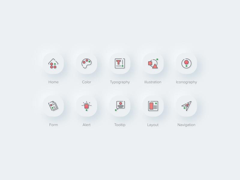 Icons rounded corners icon style icon icon sets design skeuomorphic biznetgio ui navigation layout tooltip alert form iconography illustration typography color home icon set neumorphism