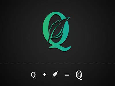 Q + Leaf Logo Design logodaily logodesignersclub logodesigner logodesigns logotype logos logo brand identity logodesign logo design branding design modern vector branding illustration design
