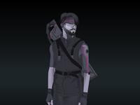Cyberpunk Portrait with Laser Gun on Fiverr
