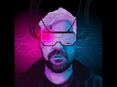 Cyberpunk Portrait with VR