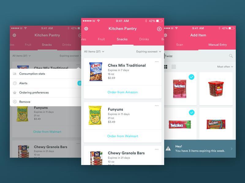 Design Challenge Pantry App By Zarin Ficklin Dribbble