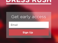 Simple sign up form
