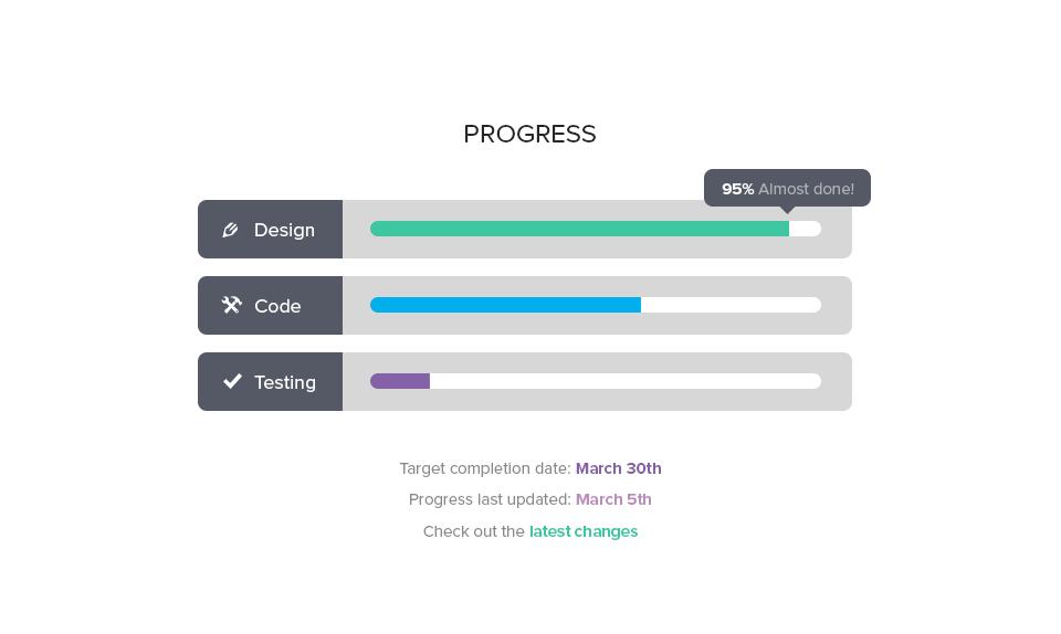 Progress bars full pixels