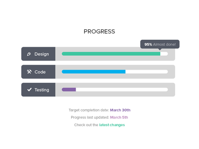 Progress Bars ui web interface metro flat simple clean progress progress bars tooltip