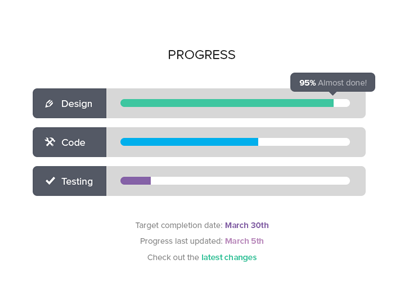 Progress Bars ui web interface metro flat simple clean progress progress bars tooltip