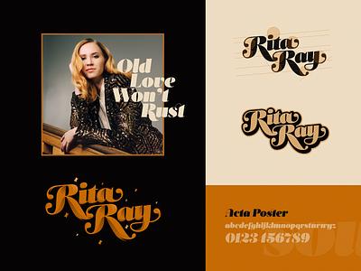 Rita Ray type typogaphy lettering rita ray typedesign music rnb soul vintage branding logo