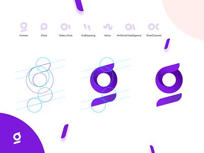 Glia monogram glia monogram icons cx brand identity rebranding vector logo branding