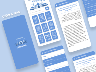 Dzikir dan doa icon typography app art redesign flat ux ui design