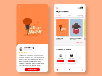 Book Store icon illustration branding typography app art flat ux design redesign