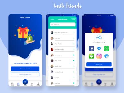 Invite friend illustration icon typography app art redesign flat ui ux design