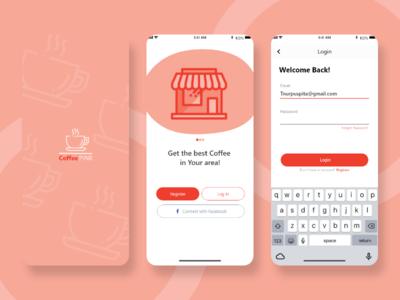 CoffeePink graphic design animation minimal vector illustration app art redesign flat ui ux design