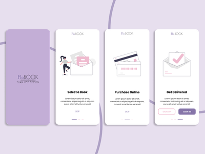 On Boarding Flo Book branding logo illustration app art flat ui ux design