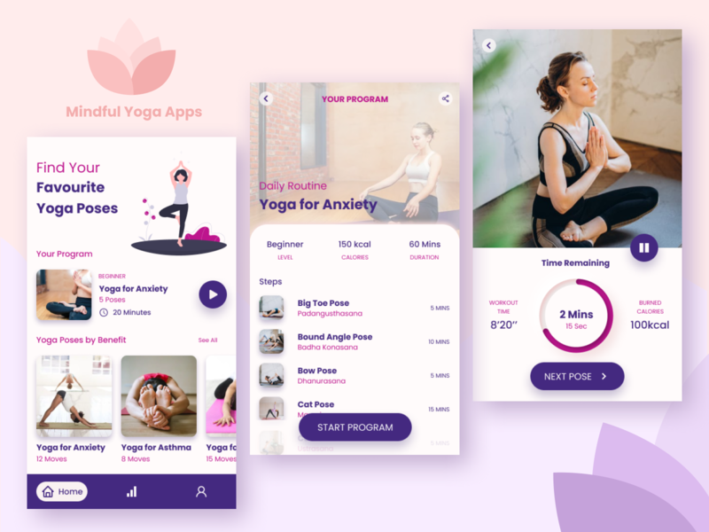 Yoga Workout - Mobile Apps ux ui design app