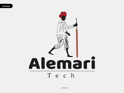 Alemari Tech branding logo