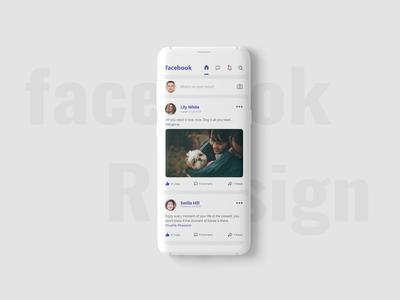 Facebook Redesign Concept.