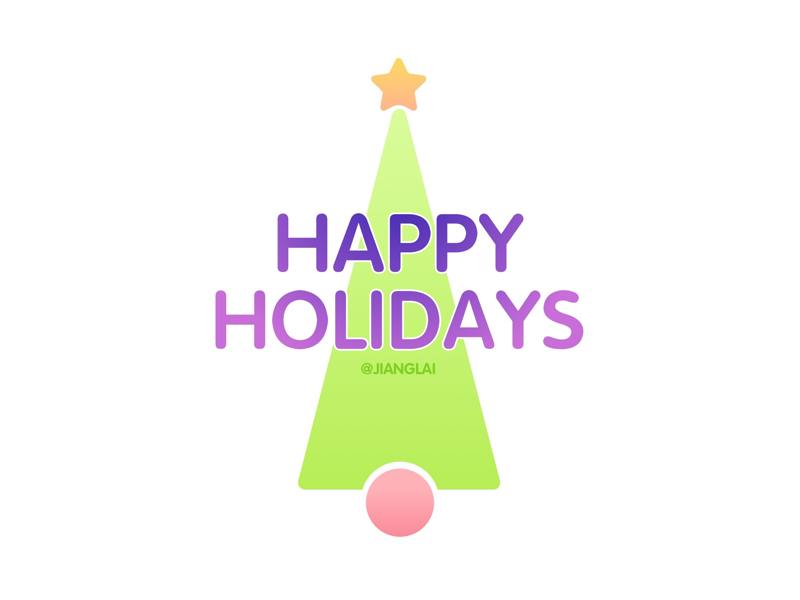 happy holidays design graphic