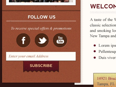Toast Social Sidebar web design social homepage follow us button