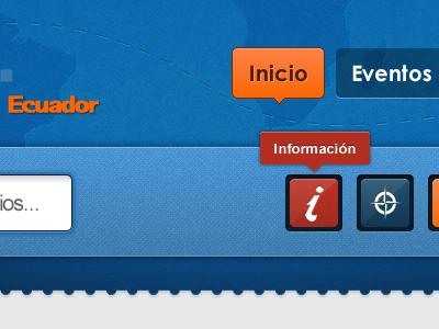 Hoteles y Servicios Header header menu tooltip travel ecuador input button