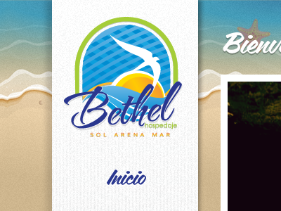 Bethel Header sand beach tropical travel menu sea header