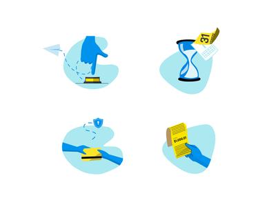 Product icons illustration