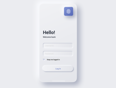 Sign In mobile screen mobile minimal app icon design sign in ui neumorphic