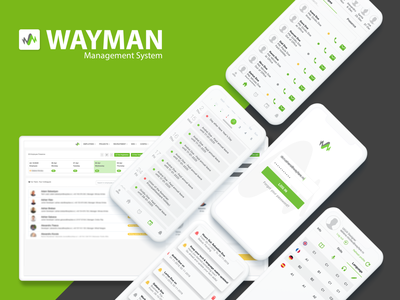 Wayman - Management System management app paperworkoff teamwork teams system management ux web logo ui mobile minimal icon design app