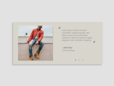 Daily UI Day 039: Testimonials
