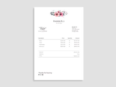Daily UI Day 046: Invoice