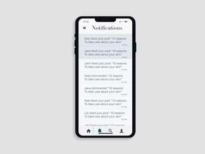 Daily UI Day 049: Notifications mobile ui design notifications design day049 day 49 mobile ui mobile mobile design mobile app daily ux ui design daily ui dailyui daily 100 challenge