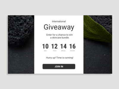 Daily UI Day 097: Giveaway